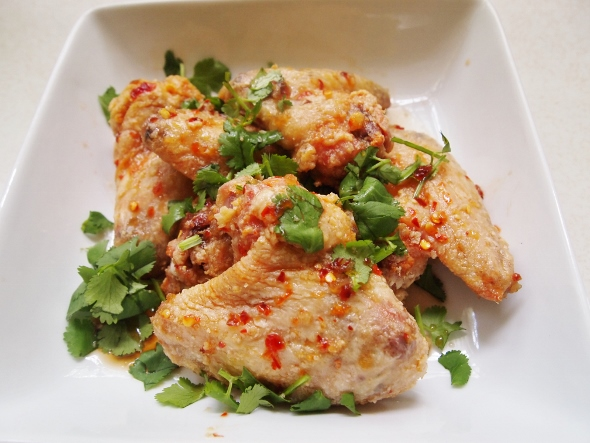 Sweet Spicy Oven Fried Chicken Wings