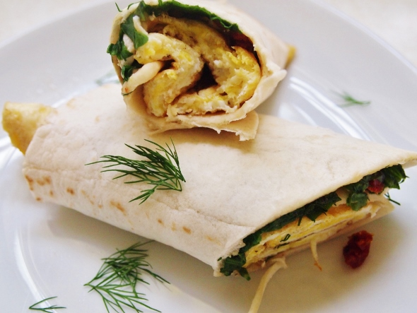 Spinach Feta Egg Wraps