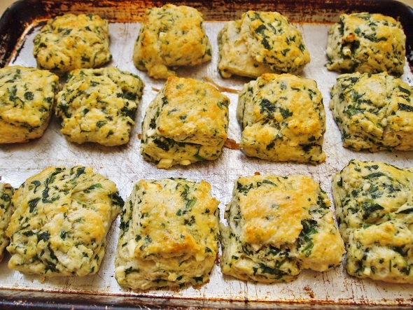 Spinach Feta Biscuits